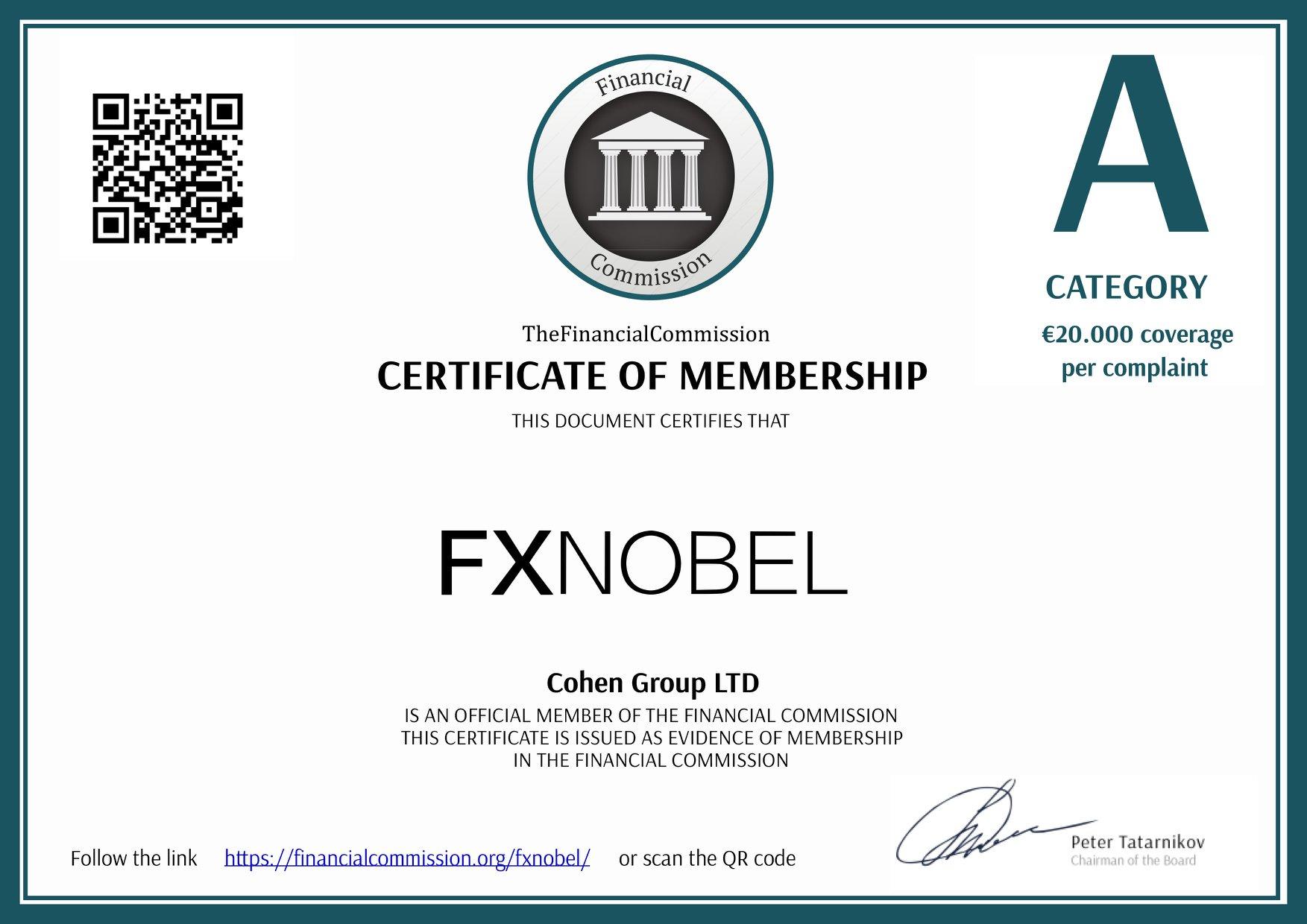 Fxnobel клиентfinancialcommission?